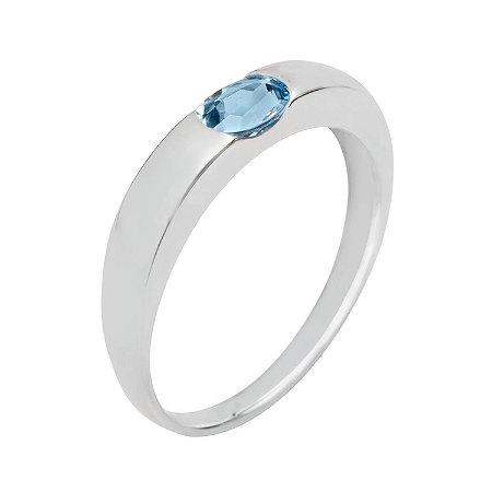 Anel de Ouro18k - Agua Marinha - Pedra Preciosa - Magnífico