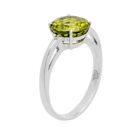 Anel de Ouro - Peridoto - Pedra Preciosa - redonda - Desejável