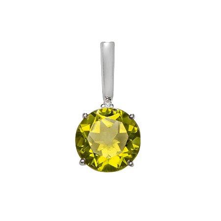 Pingente de Ouro - Peridoto - Pedras Preciosas - Desejável