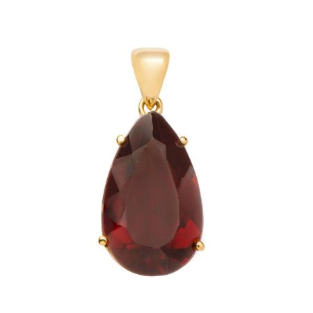 Pingente de Ouro - Granada - Pedra Preciosa - Exuberante
