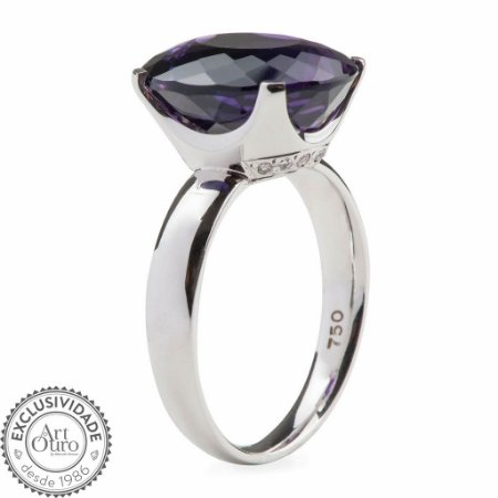 Anel - Ametista - Ouro 18k