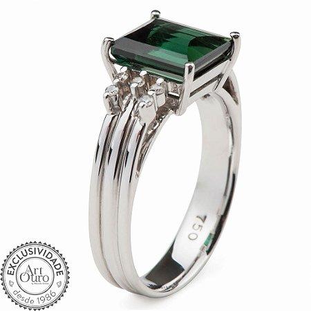 Anel de Ouro - Turmalina - Pedra Preciosa - Diamante - Desejável