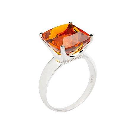 Anel de ouro 18k - Citrino - pedra preciosa - Luxo