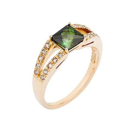 Anel de ouro 18k - Turmalina - Pedra Preciosa - Ilustre