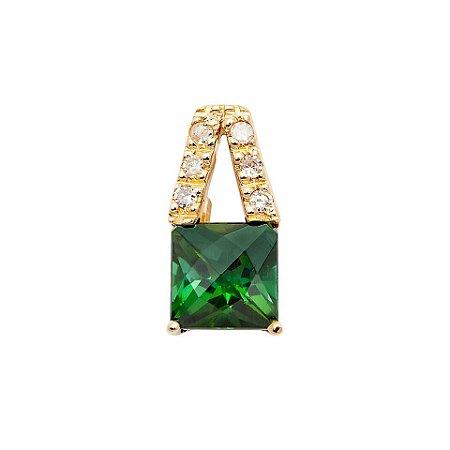 Pingente de ouro 18k - Turmalina - Pedra Preciosa - Ilustre