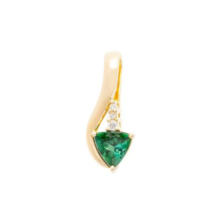Pingente de Ouro 18k - Turmalina - Pedra Preciosa - Super Meiga