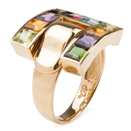 Anel de ouro 18k - Mix - Pedras Preciosas - Notável