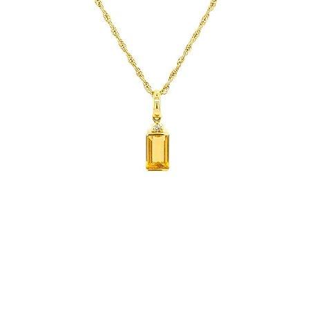 Pingente de Ouro 18k - Citrino - Pedras Preciosas - Admirável