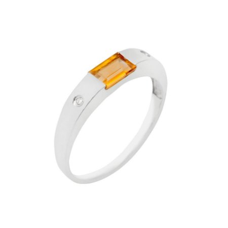 Anel de Ouro 18k - Citrino - Pedras Preciosas - Admirável