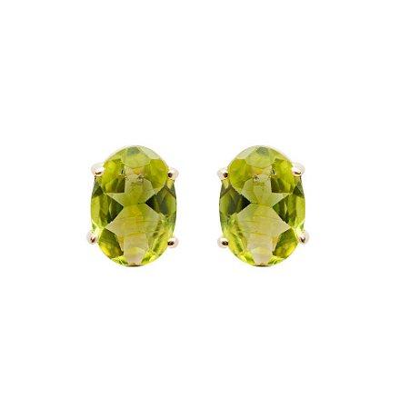Brinco de Ouro - Peridoto - Pedra Preciosa - Delicado