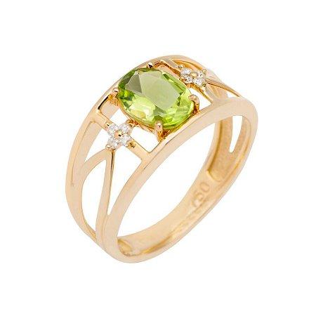 Anel de Ouro - Peridoto - Pedra Preciosa - Desejável