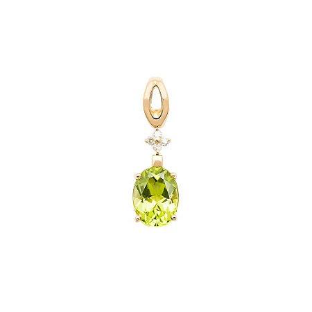 Pingente de Ouro - Peridoto - Pedra Preciosa - Desejável