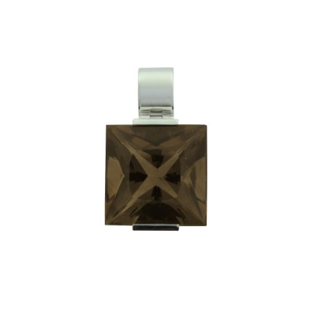 Pingente de Ouro 18k - Quardzo Fume - Carre - Esplendida