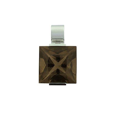 Pingente - Quartzo Fume - Ouro 18k