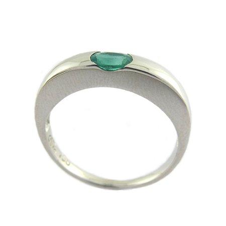 Anel de Ouro - Esmeralda - Pedra Preciosa - Magnífico