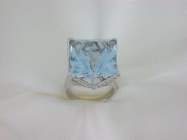 Anel de Ouro18k - Agua Marinha - Pedra Preciosa - Especial