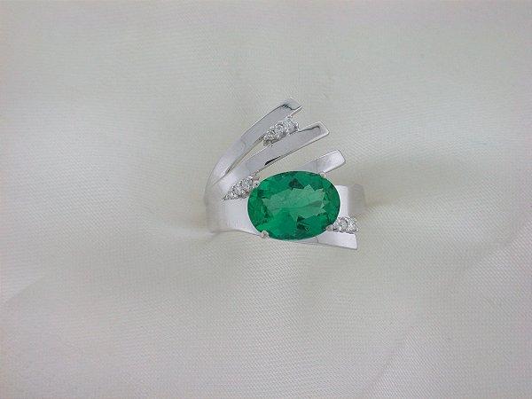 Anel de Ouro18k - Esmeralda - Pedra Preciosa - Especial