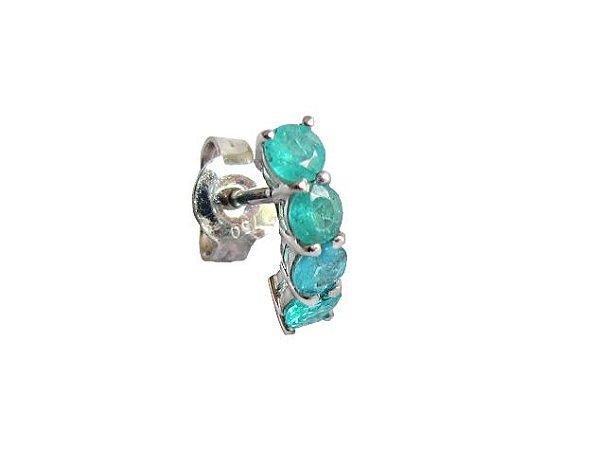 Piercing de Ouro - Turmalina Paraiba - Pedra Preciosa - Delicado