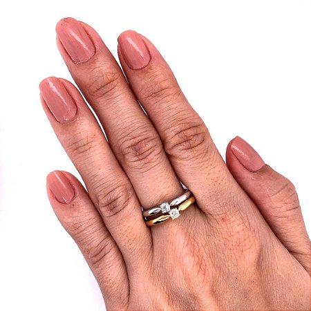 Anel - Diamante - Sólitario - Ouro 18k