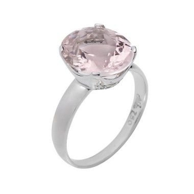 Anel de ouro  - Morganita - pedra preciosa - Luxo