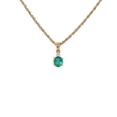 Pingente de Ouro - Esmeralda - Pedra Preciosa - Exuberante