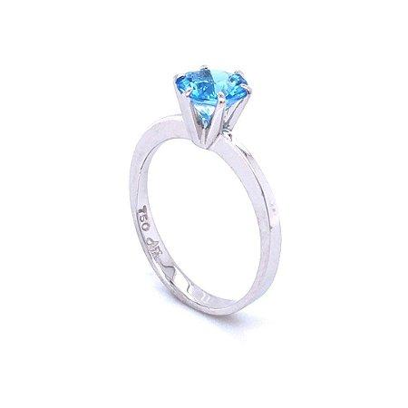 Anel de Ouro - topázio azul - Gemas - Desejável