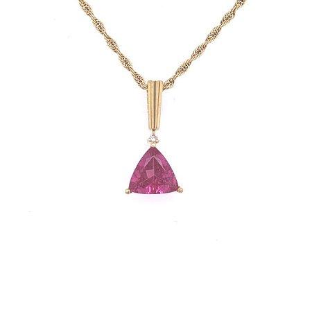 Pingente - Ouro 18k - Rubelita - Pedra Preciosa - Encanto