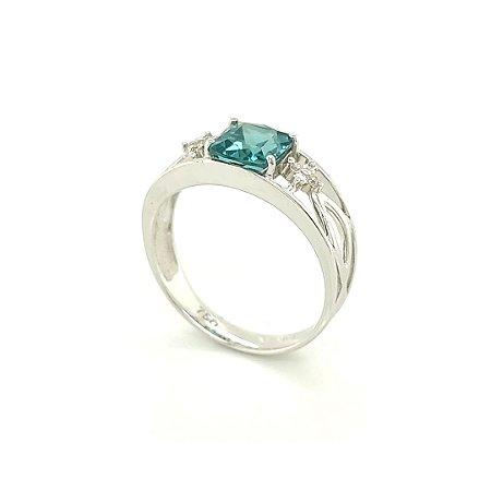 Anel de Ouro 18k - Turmalina - Pedra Preciosa -  Delicado