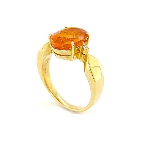 Anel de Ouro 18k - Pedra Preciosa - Opala de Fogo - Raridade