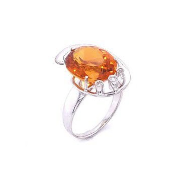 Anel Ouro - Citrino - Pedras Preciosas - Espetacular