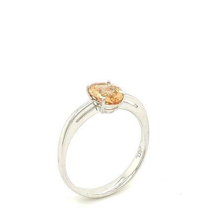 Anel de Ouro 18k - Topázio Imperial - Pedra Preciosa - Desejável