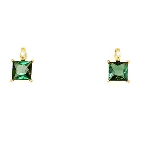 Brinco - Ouro 18k - pedra preciosa - Turmalina Verde