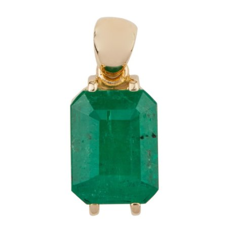 Pingente de Ouro 18k - Esmeralda - Retangular - Exuberante