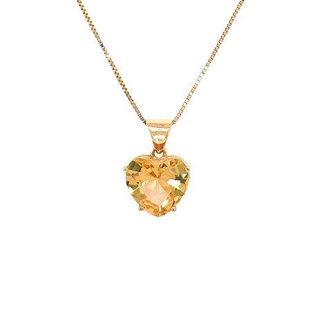 Pingente de Ouro - Topázio Imperial - Gemas - Encanto