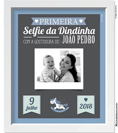 Quadro Personalizado Bebê - Selfie Menino