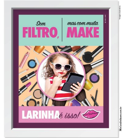 Quadro Personalizado Menina - Maquiagem