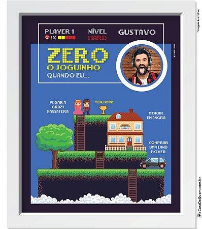 Quadro Personalizado Homem - Vídeo-Game