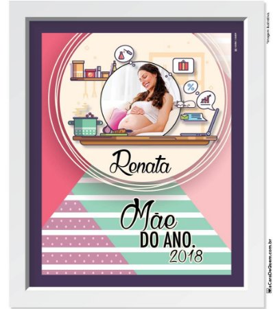 Quadro Personalizado Mãe - Gravidez do Ano