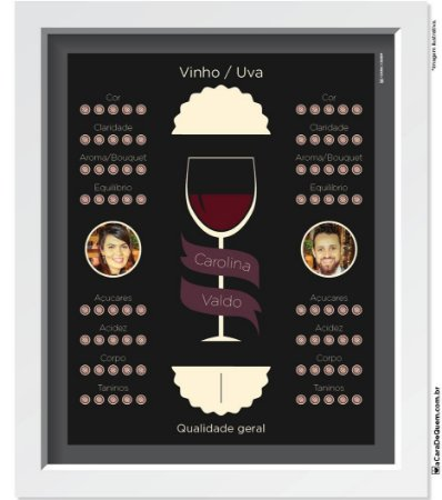 Quadro Personalizado Casal - Amantes Vinho