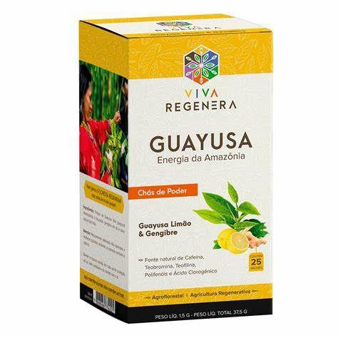 Guayusa Limão e Gengibre - Chás do Poder - 25 saches
