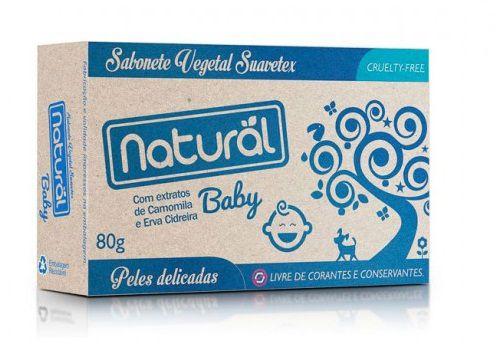 Sabonete Natural Baby com extratos de camomila e erva cidreira 80g