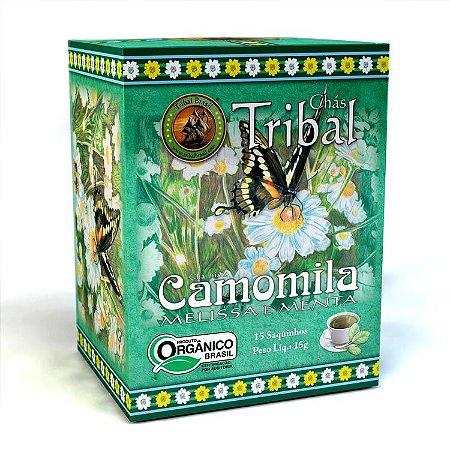 Chá Misto orgânico de Camomila, melissa e menta 15 saquinhos - Tribal