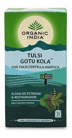 Chá Tulsi Centella Asiática (Gotu Kola) 25 Sachês - Organic