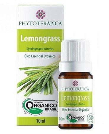 Óleo Essencial de Lemongrass / Capim Limão Orgânico 10ml Phytoterapica