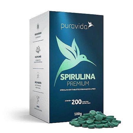 Spirulina Premium -  Tabletes prensados a frio  -  Tabletes 500mg cada