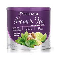 Power Tea Mate Verde  & Matcha  Sabor Limão com Gengibre