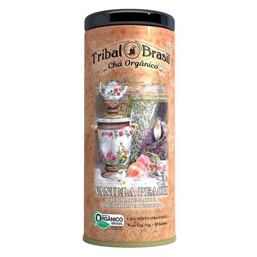 Chá de Erva Mate -  Tribal - Vanilla Peach Orgânico com 30 sachês