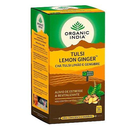 Tulsi Lemon Ginger 25 sachês - Organic India