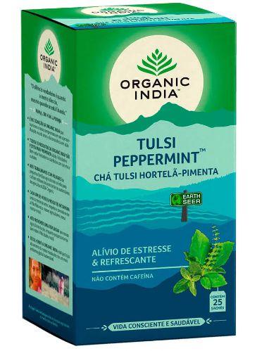 Chá Tulsi Hortelã Pimenta  25 Sachês - Organic India