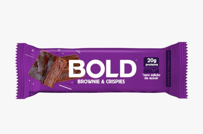 Barra de proteína BOLD BAR – Brownie e crispies  20g